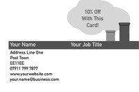 Chimney Sweeper Business Card  by Templatecloud