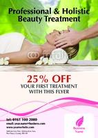 Beauty Salon A4 Leaflets by Templatecloud