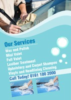 Car Wash A5 Leaflets by Templatecloud