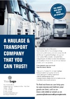 Logistics A5 Leaflets by Templatecloud
