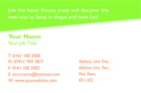 Fitness Business Card  by Templatecloud