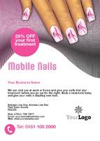 Beauty Salon A6 Leaflets by Templatecloud