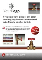 Plumbers A5 Leaflets by Templatecloud