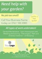 Garden Maintenance A4 Leaflets by Templatecloud