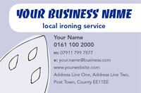 Ironing and Laundry Services Business Card  by Templatecloud