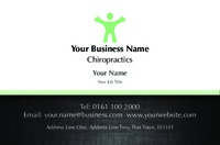 Chiropractic Business Card  by Templatecloud