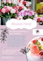 Florist A4 Leaflets by Templatecloud