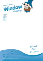 Window Cleaning A4 Stationery by Templatecloud