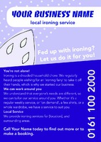 Ironing and Laundry Services A5 Leaflets by Templatecloud