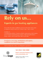 Gas Fitters A6 Leaflets by Templatecloud