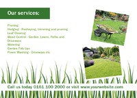 Garden Maintenance A6 Postcards by Templatecloud