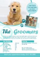 Dog Groomers A4 Leaflets by Templatecloud