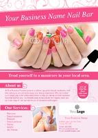 Salon A6 Leaflets by Templatecloud