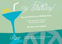 Cocktail Bar A5 Invitations by Templatecloud