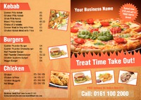 Takeaway A4 Folded Leaflets by Templatecloud
