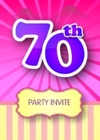Birthday Party A6 Leaflets - Front