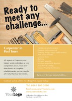 Carpenters A6 Leaflets by Templatecloud