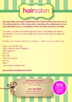Beauty Salon A5 Leaflets - Back