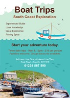Boat Trip A6 Leaflets by Templatecloud