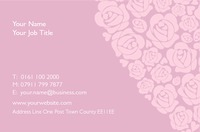 Florist Business Card  - Back