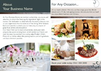 Restaurant A4 Folded Leaflets by Templatecloud