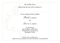 Marriage A6 Invitations - Front