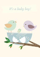 New Baby Regular (folds to A6) Greeting Cards by Templatecloud