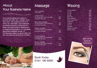 Massage A4 Folded Leaflets - Back