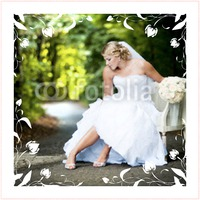 "Marriage 30x30"" with premium frame Photo Canvas by Templatecloud"