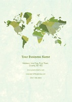 World Map A5 Leaflets by Templatecloud