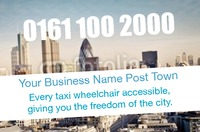 Taxi Hire Business Card  by Templatecloud