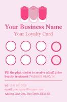 Salon Business Card  by Templatecloud