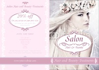 Beauty Salon A4 Folded Leaflets by Templatecloud