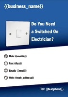 Electrician A4 Leaflets by Templatecloud