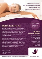 Massage A5 Leaflets by Templatecloud