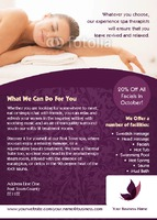 Massage A6 Leaflets by Templatecloud