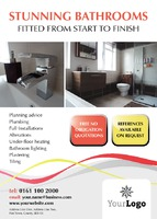 Bathroom Fitters A6 Leaflets - Front