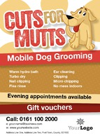 Dog Groomers A6 Leaflets by Templatecloud