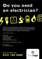 Electrical A6 Leaflets by Templatecloud