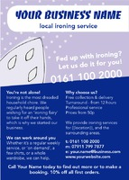 Ironing and Laundry Services A6 Leaflets by Templatecloud