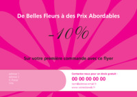 Fleuristes A5 Flyers par Templatecloud