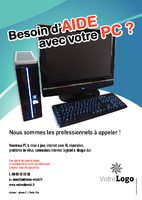 Techniciens informatique A5 Flyers par Templatecloud