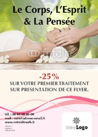 Salon de beauté A6 Flyers par Templatecloud