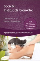 Massage Carte de visite  par Templatecloud