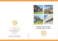 Agent immobilier A4 Dépliants par Templatecloud