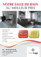 Installateurs de salle de bain A6 Tracts par Templatecloud