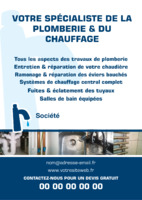 Plombiers A5 Tracts par Templatecloud