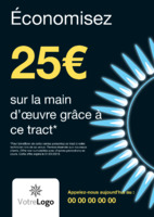 Installations de gaz A5 Tracts par Templatecloud