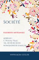 Carte De Visite Fleuriste Artisanale
