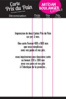 Rioux - Carte des pains  40x60cm et 1 Carte 20x30cm - Prix du Pain - PVC 3mm par Templatecloud